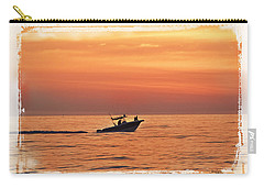 Carry-all Pouch featuring the photograph Sunrise Boat Ride by Janie Johnson