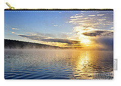 Sunrise On Foggy Lake Carry-all Pouch