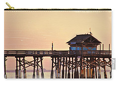 Carry-all Pouch featuring the photograph Sunrise On Rickety Pier by Janie Johnson