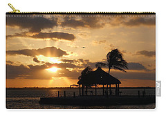 Carry-all Pouch featuring the photograph Sunrise Over Bay by Clara Sue Beym