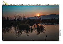 Sunrise Over The Beaver Pond Carry-all Pouch by Ronald Lutz