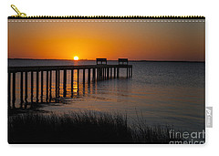 Sunset Across Currituck Sound Carry-all Pouch by Ronald Lutz