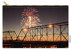 Sunset And Fireworks Carry-all Pouch