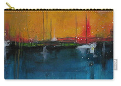 Sunset At The Lake  # 1 Carry-all Pouch by Nicole Nadeau