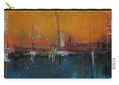 Sunset At The Lake # 2 Carry-all Pouch by Nicole Nadeau
