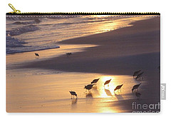 Carry-all Pouch featuring the photograph Sunset Beach by Nava Thompson