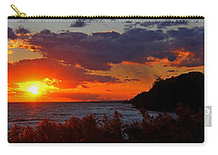 Sunset By The Beach Carry-all Pouch by Davandra Cribbie
