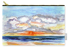 Carry-all Pouch featuring the painting Sunset Clouds by Clara Sue Beym