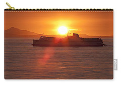 Carry-all Pouch featuring the photograph Sunset by Eunice Gibb