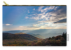 Carry-all Pouch featuring the photograph Sunset From The Bald by Dan Wells