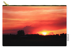Carry-all Pouch featuring the photograph Sunset by Johanna Bruwer