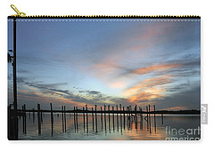 Carry-all Pouch featuring the photograph sunset marina Everglades by Dan Friend