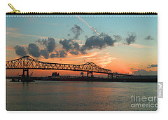 Sunset On The Mississippi  Carry-all Pouch by Lydia Holly