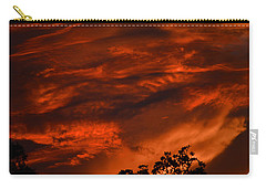 Carry-all Pouch featuring the photograph Sunset Over Altoona by DigiArt Diaries by Vicky B Fuller