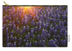 Sunset Over Bluebonnets Carry-all Pouch by Susan Rovira