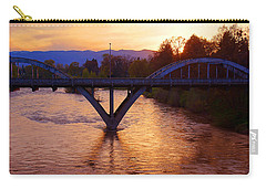 Sunset Over Caveman Bridge Carry-all Pouch by Mick Anderson