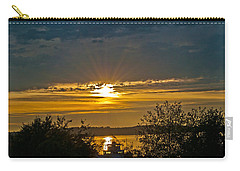 Carry-all Pouch featuring the photograph Sunset Over Steilacoom Bay by Tikvah's Hope