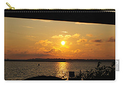 Carry-all Pouch featuring the photograph Sunset Through The Rails by Michael Frank Jr