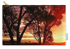 Sunset Through The Trees Carry-all Pouch