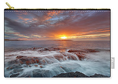Sunset Tides - Cemlyn Carry-all Pouch by Beverly Cash