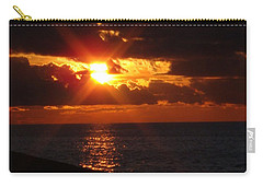 Carry-all Pouch featuring the photograph Superior Sunset by Bonfire Photography