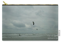 Carry-all Pouch featuring the photograph Surfing The Wind by Donna Brown