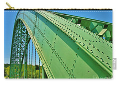 Carry-all Pouch featuring the photograph Suspension Bridge by Sherman Perry
