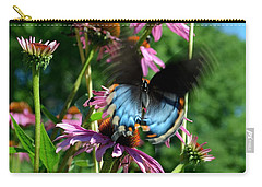 Swallowtail In Motion Carry-all Pouch by Sue Stefanowicz