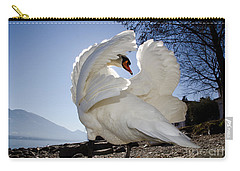 Swan In Backlight Carry-all Pouch