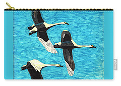 Swans In Flight Carry-all Pouch