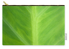 Taro Or Elephant Ear Leaf Carry-all Pouch by Denise Beverly