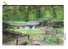 Carry-all Pouch featuring the painting Taughannock Vista Ithaca New York by Melly Terpening