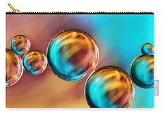Techno-coloured Bubble Abstract Carry-all Pouch