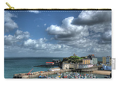 Carry-all Pouch featuring the photograph Tenby Harbour Pembrokeshire 3 by Steve Purnell