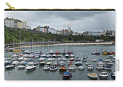 Carry-all Pouch featuring the photograph Tenby Panorama by Steve Purnell