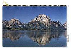 Carry-all Pouch featuring the photograph Teton Panoramic View by Marty Koch