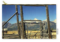 Carry-all Pouch featuring the photograph Teton Ranch by Marty Koch