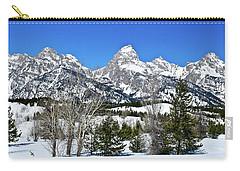 Teton Winter Landscape Carry-all Pouch