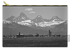 Carry-all Pouch featuring the photograph Tetonia Grain Elevators by Eric Tressler