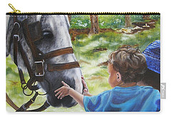 Carry-all Pouch featuring the painting Thank You's by Lori Brackett