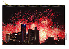 Carry-all Pouch featuring the photograph The 54th Annual Target Fireworks In Detroit Michigan - Version 2 by Gordon Dean II