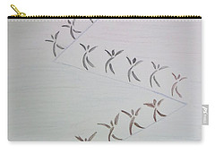 Carry-all Pouch featuring the drawing The Ascent by Sonali Gangane