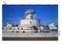 Carry-all Pouch featuring the photograph The Belle Isle Scott Fountain by Gordon Dean II