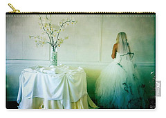 Carry-all Pouch featuring the photograph The Bride Takes A Moment by Nina Prommer
