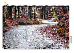 Carry-all Pouch featuring the photograph The Broken Road by Lynne Jenkins