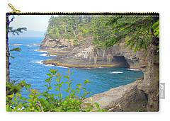 Carry-all Pouch featuring the photograph The Caves Of Cape Flattery  by Tikvah's Hope