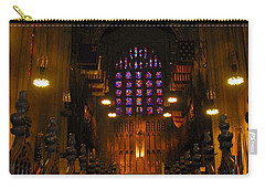 Carry-all Pouch featuring the photograph The Chapel At Valley Forge Park by Cindy Manero