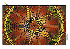 Carry-all Pouch featuring the digital art The Crescents And Wiry Star by Mario Carini