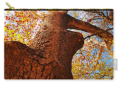 Carry-all Pouch featuring the photograph The Deer  Autumn Leaves Tree by Peggy Franz