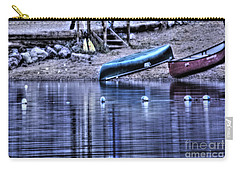 Carry-all Pouch featuring the photograph The Dramatic Canoe Scene by Janie Johnson